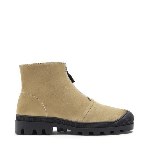 LOEWE Zip Boot Gold front