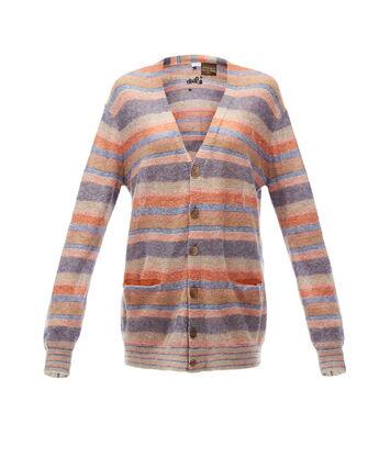 LOEWE Paula Stripe Oversize Cardigan Multicolor front