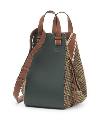 LOEWE Hammock Tweed Medium Bag Cypress/Tan front