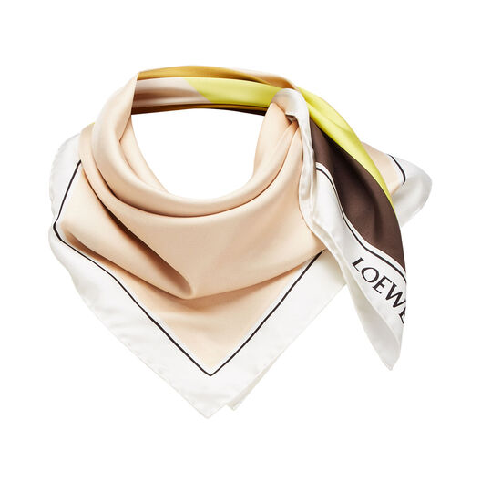 LOEWE 90X90 Scarf Puzzle Beige front