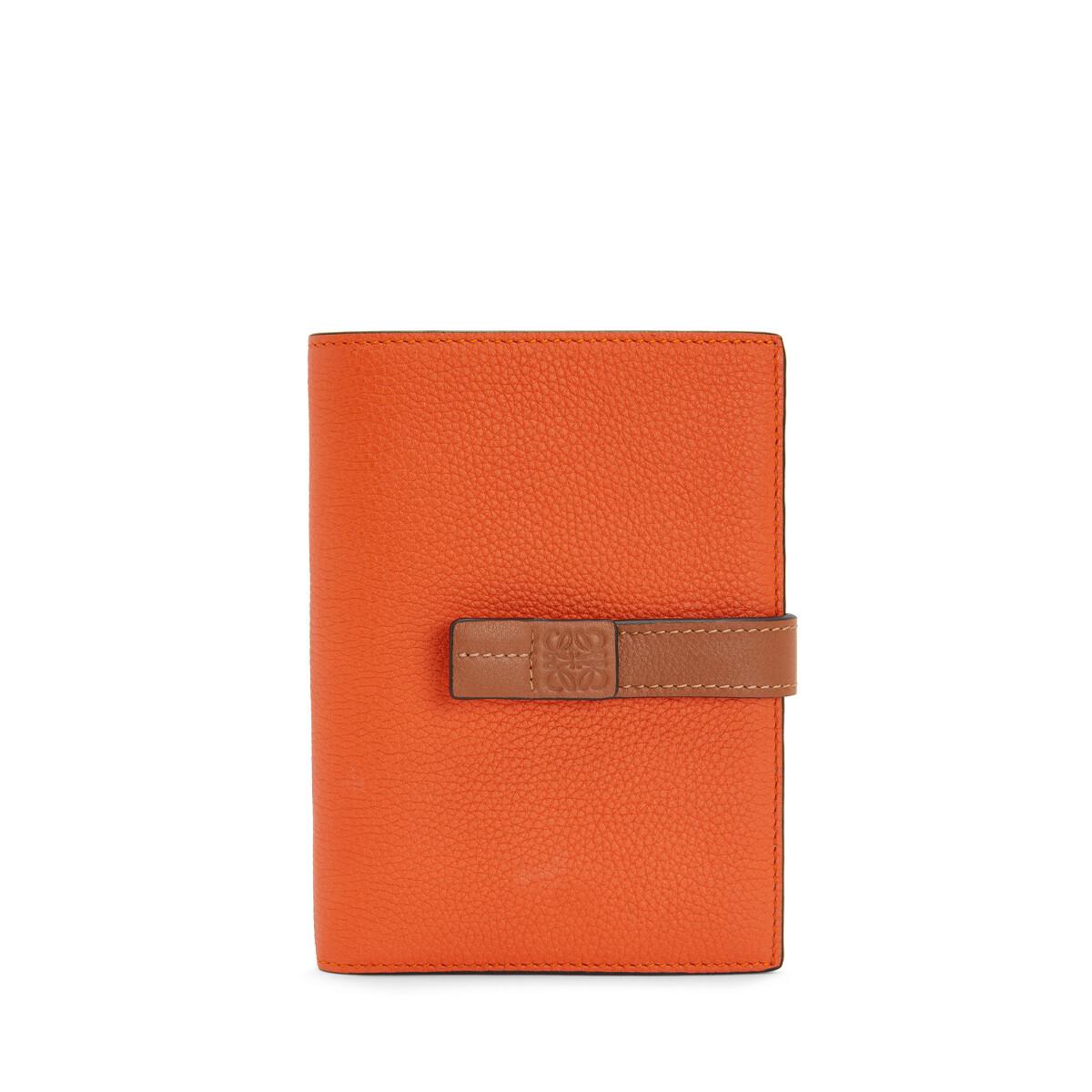 LOEWE Medium Vertical Wallet Orange front
