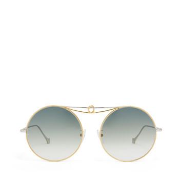 LOEWE Gafas Nudo Metal Redondas Oro/Azul front