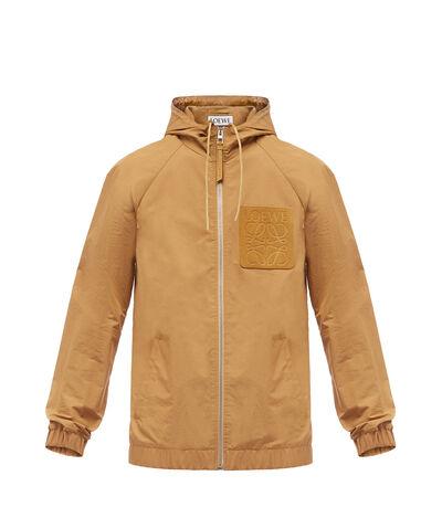 LOEWE Zip Hood Jacket Beige front