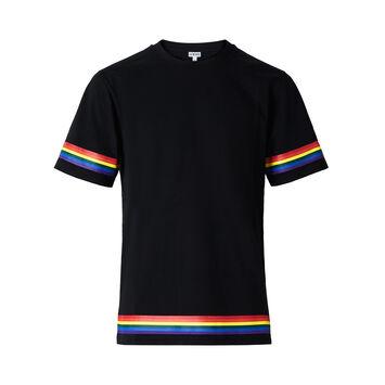 LOEWE Tシャツロエベレインボー ブラック front