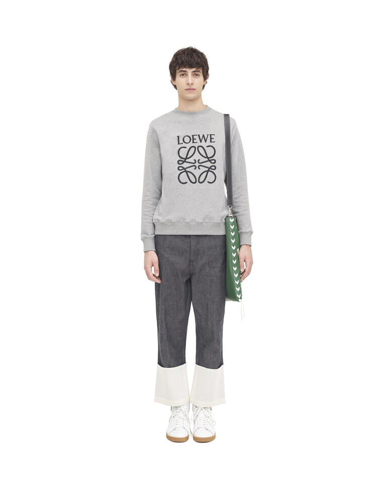 LOEWE Anagram embroidered sweatshirt in cotton Grey pdp_rd
