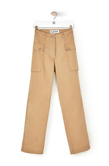 LOEWE Cargo Trousers ベージュ front