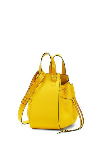 LOEWE Small Hammock Drawstring bag in soft grained calfskin Yellow pdp_rd