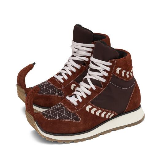 LOEWE High Top Sneaker Dinosaur 砖红色 all