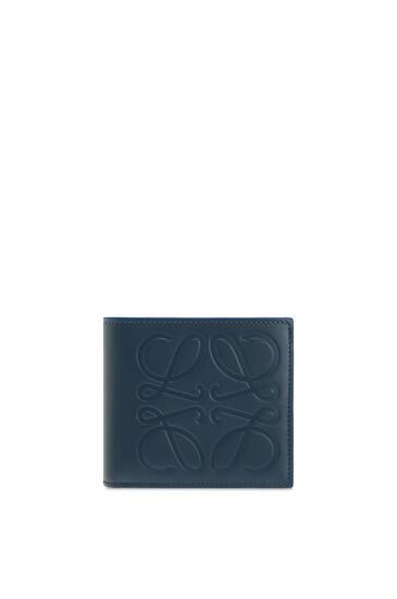 LOEWE Bifold coin wallet in smooth calfskin Steel Blue pdp_rd
