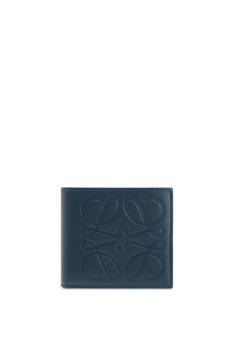 LOEWE 光滑小牛皮双折硬币钱包 Steel Blue pdp_rd