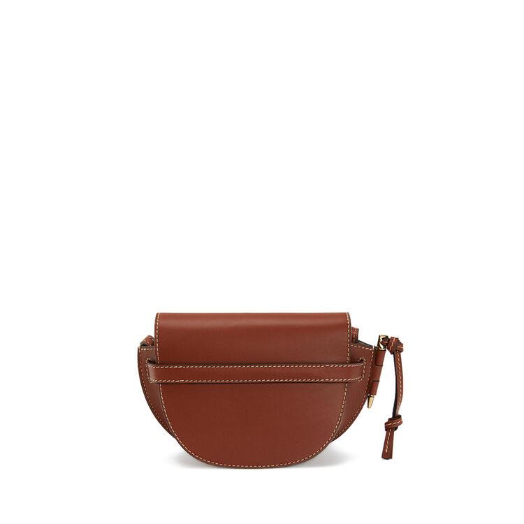 LOEWE Mini Gate bag in natural calfskin Rust Color pdp_rd