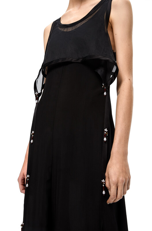 LOEWE Tank Dress Pearls Black front