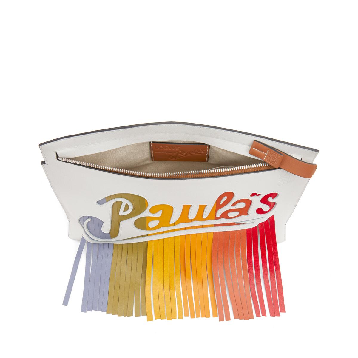 LOEWE Paula's T Pouch Bag 白色/多色 front