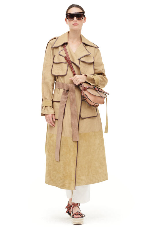 LOEWE Patch Pocket Trench Coat Gold all