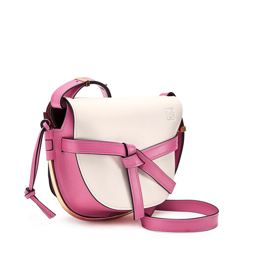 LOEWE Gate Frame Small Bag White/Wild Rose front
