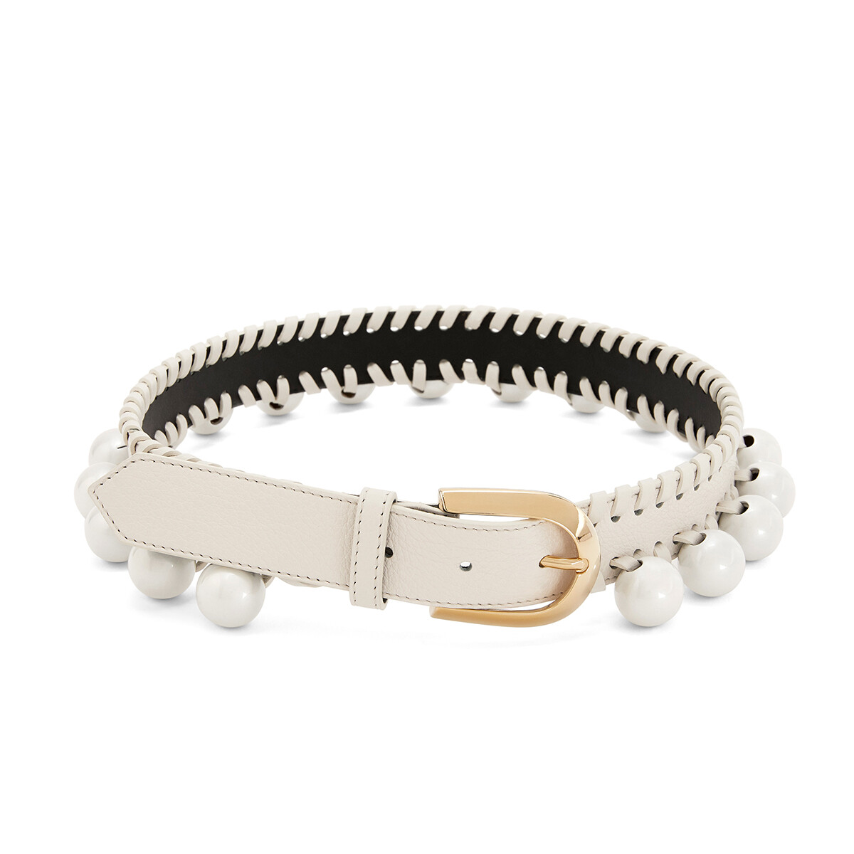 LOEWE Knot Belt White/Gold front