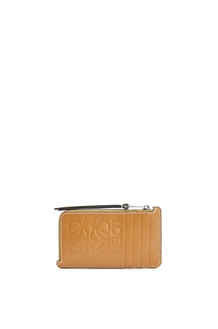 LOEWE Large Coin Cardholder In Calfskin Ochre/Taupe pdp_rd