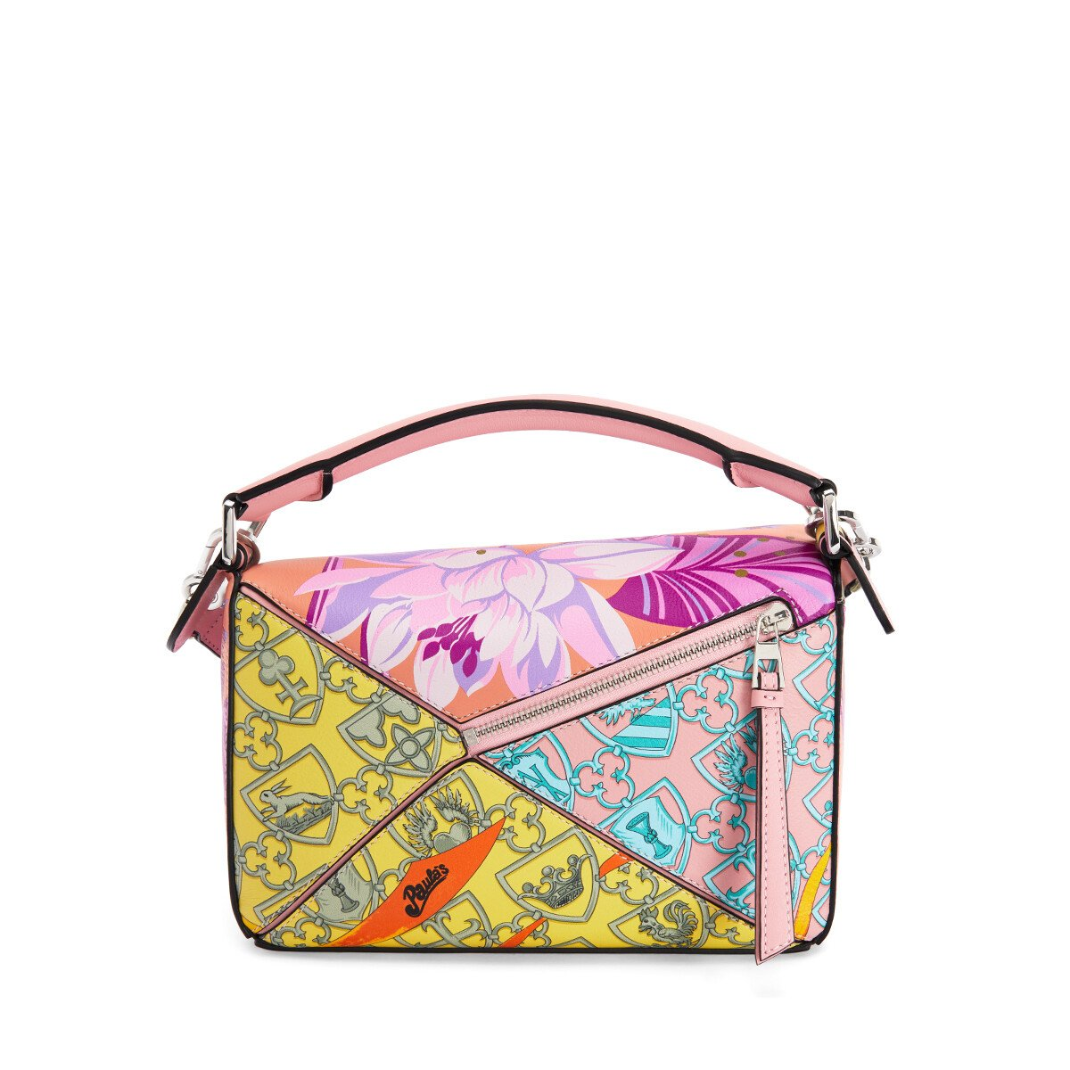 LOEWE Small Puzzle Bag In Waterlily Classic Calfskin Salmon/Icy Pink front