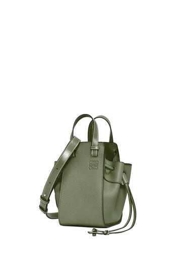 LOEWE Mini Hammock Drawstring bag in soft grained calfskin Avocado Green pdp_rd