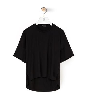 LOEWE 短款超大号 ANAGRAM T恤 黑色 front