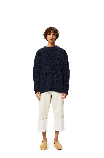LOEWE Yzzuf Crewneck Sweater In Wool Navy Blue pdp_rd