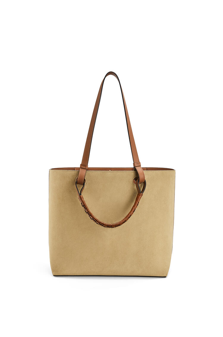 LOEWE Anagram Tote bag in classic calfskin and suede Gold pdp_rd
