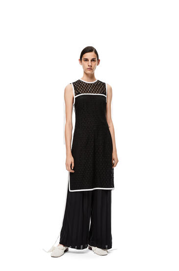LOEWE Sleeveless lace top in polyester Black pdp_rd