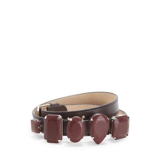 LOEWE Brazalete Jeweled Marron Oscuro front