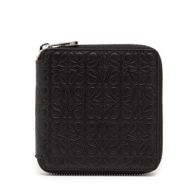 LOEWE Square Zip Wallet 黑色 front