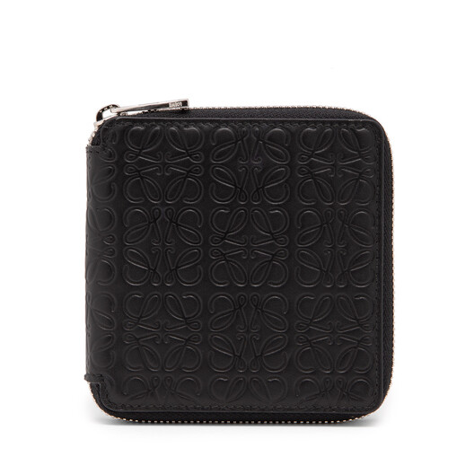 LOEWE Square Zip Wallet Black front