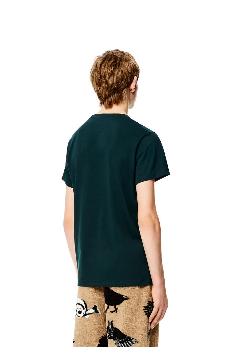 LOEWE Anagram T-shirt in cotton Forest Green pdp_rd