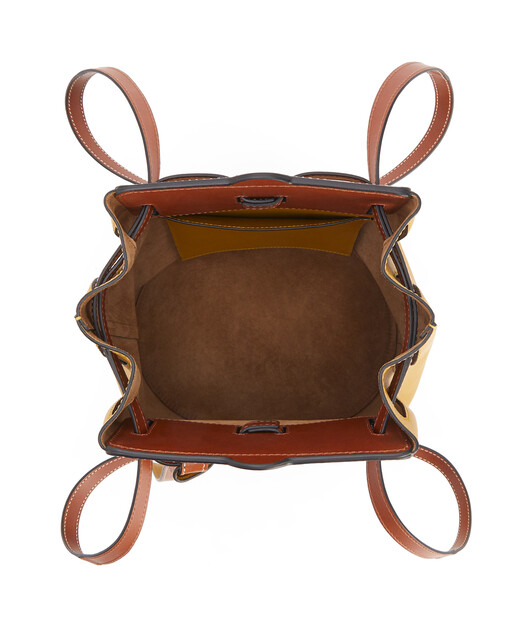 LOEWE Lazo Bucket Ochre/Tan front