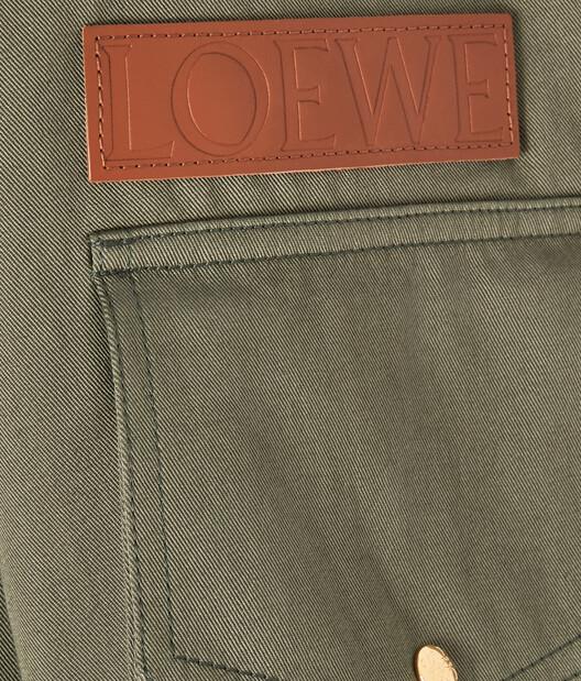 LOEWE Patch Pocket Military Parka Khaki Green front