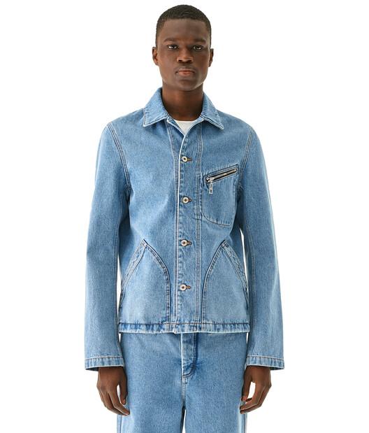 LOEWE Denim Jacket Blue Denim front