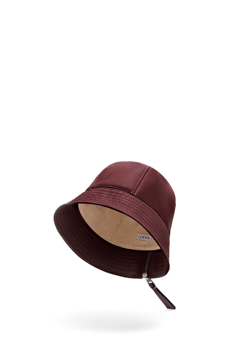 LOEWE Sombrero de pescador en piel napa Malbec pdp_rd