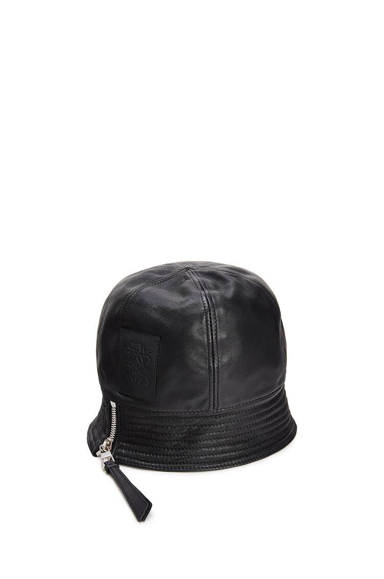 LOEWE Bucket Hat In Nappa Calfskin Black pdp_rd