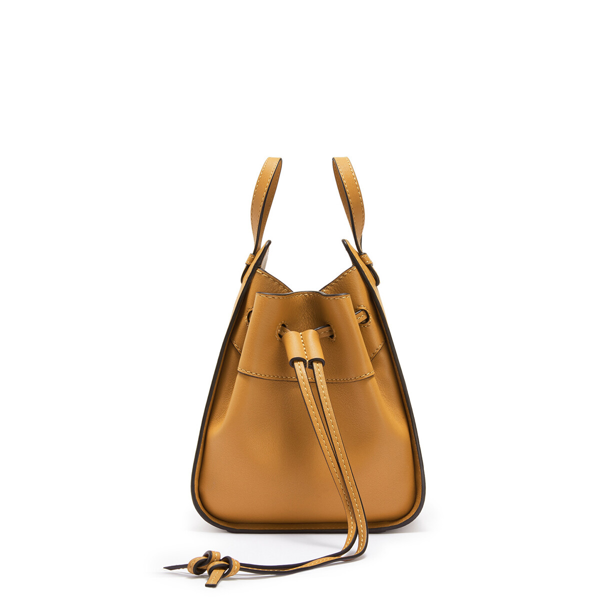 LOEWE Hammock Drawstring Mini Bag Light Caramel front