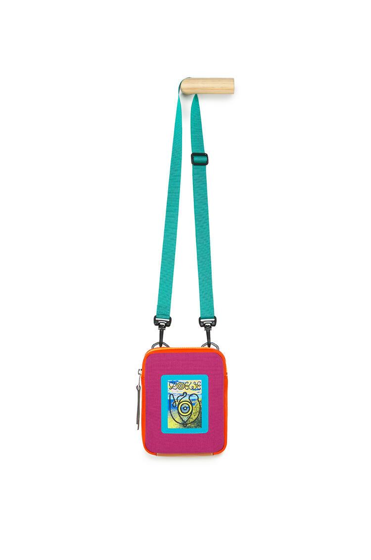 LOEWE Crossbody bag in canvas Violet/Orange pdp_rd
