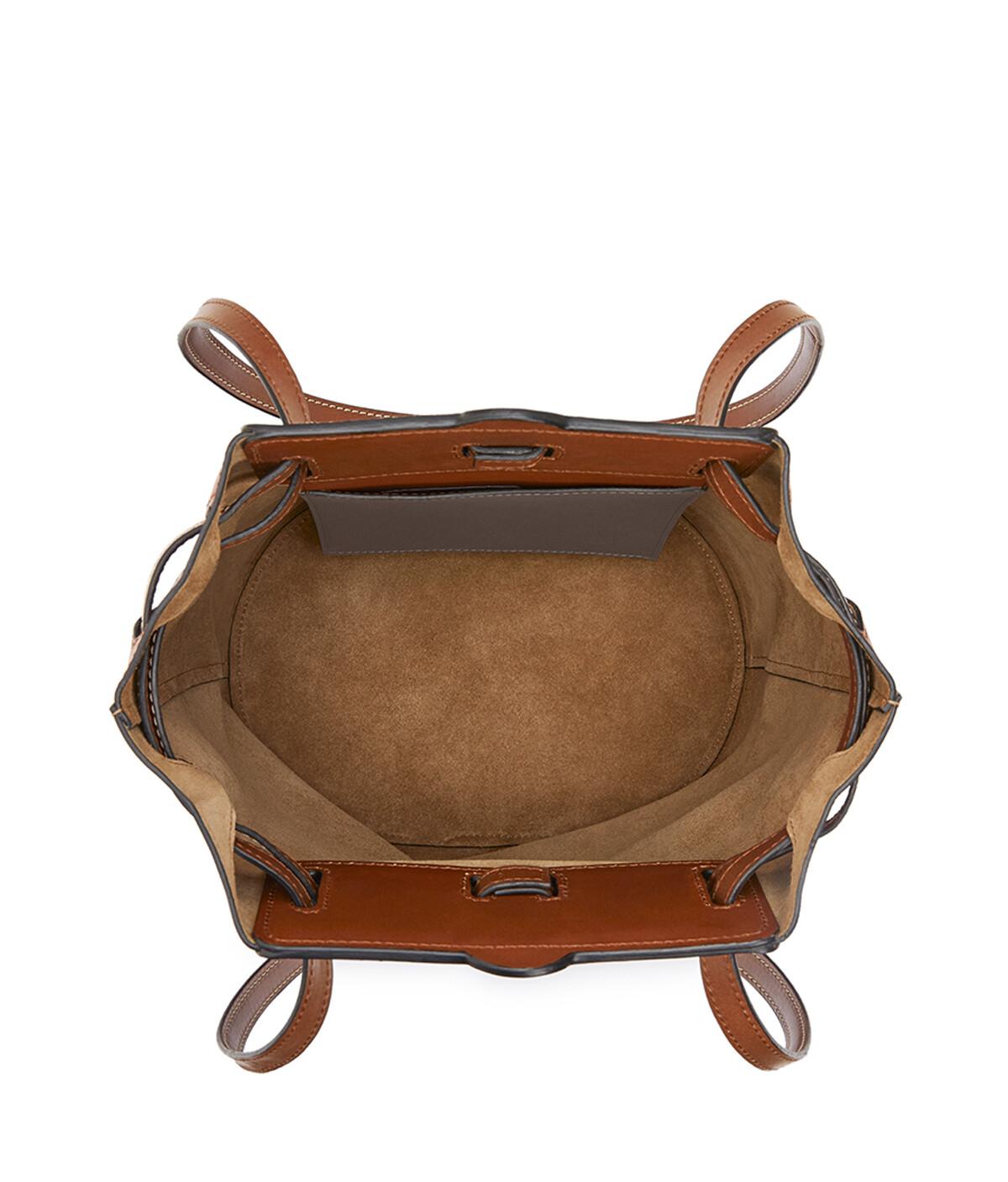 LOEWE Lazo Bucket Dark Taupe/Tan front