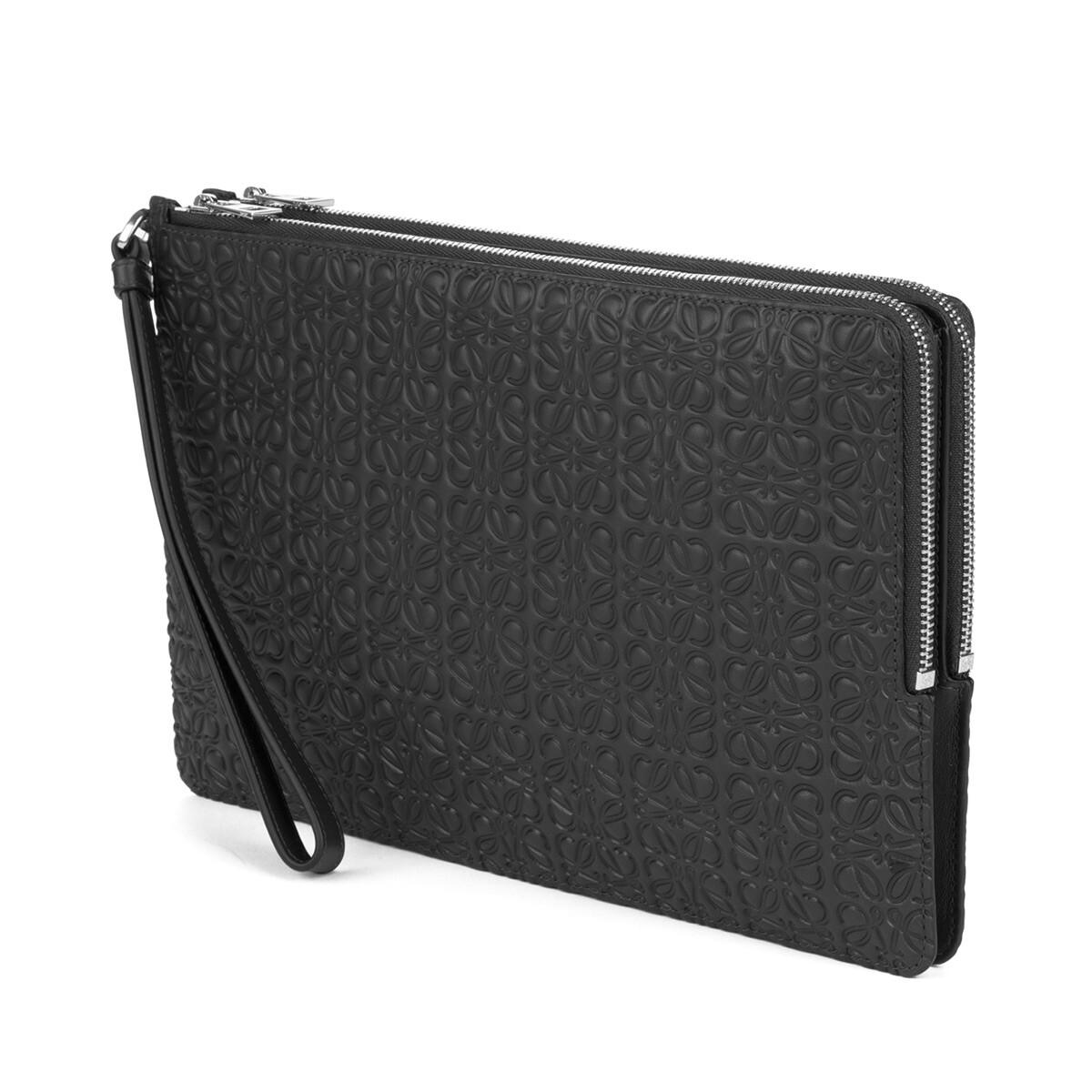 LOEWE Double Flat Pouch Black front