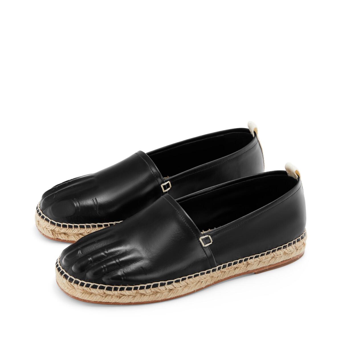 LOEWE Espadrille Toes Black front