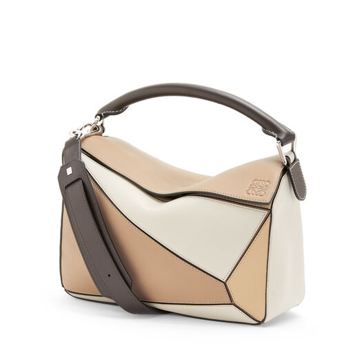 LOEWE Puzzle Bag Mocca Multitone front