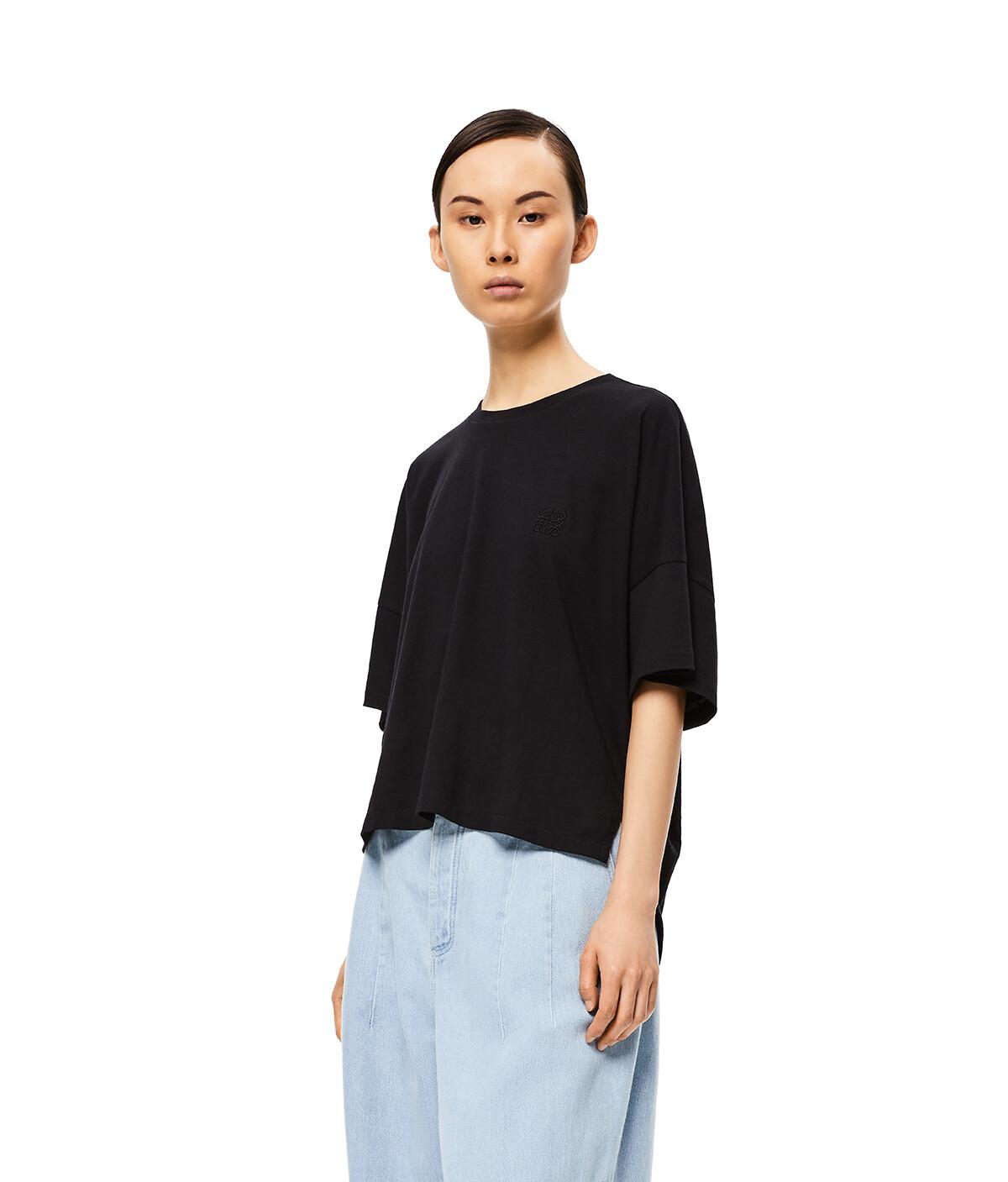 LOEWE Short Oversize Anagram T-Shirt Negro front