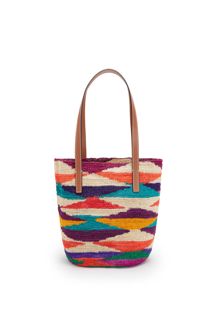 LOEWE Shigra Basket Bag In Agave And Calfskin Multicolor/Pecan pdp_rd