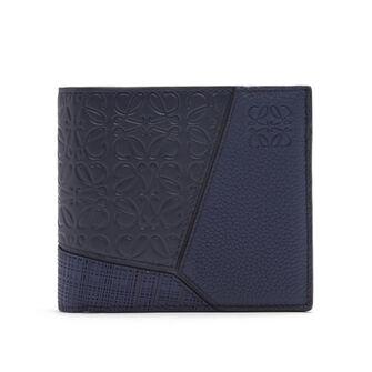 LOEWE Puzzle Bifold Wallet 海军蓝 front
