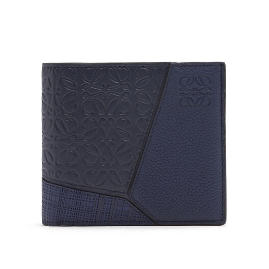 LOEWE Puzzle Multitexture Bifold Navy Blue front