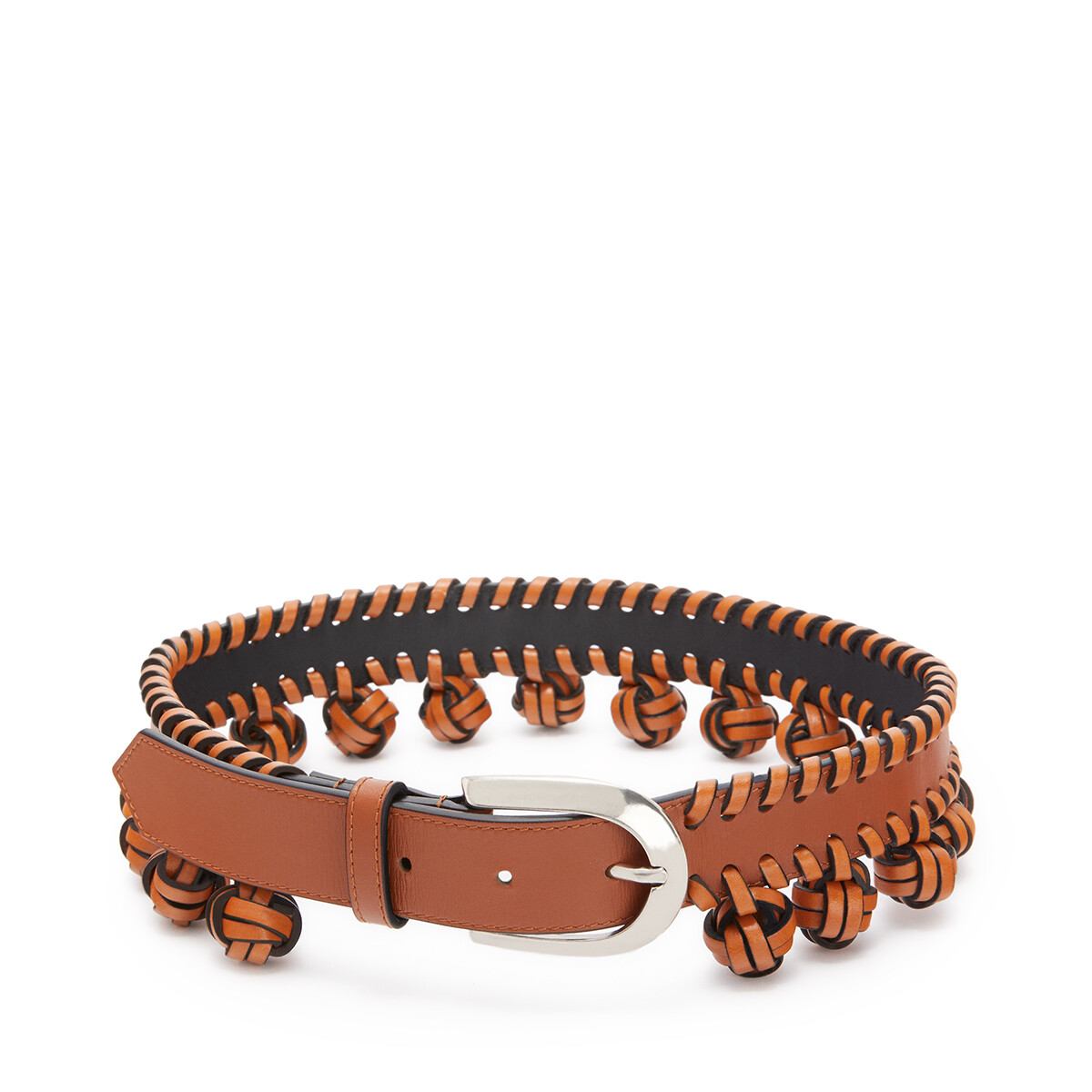LOEWE Knot Belt Tan/Palladium front