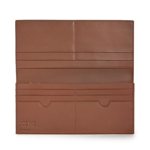 LOEWE Brand Long Horizontal Wallet Cognac front