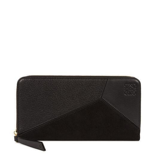 LOEWE Puzzle Zip Around Wallet Black all