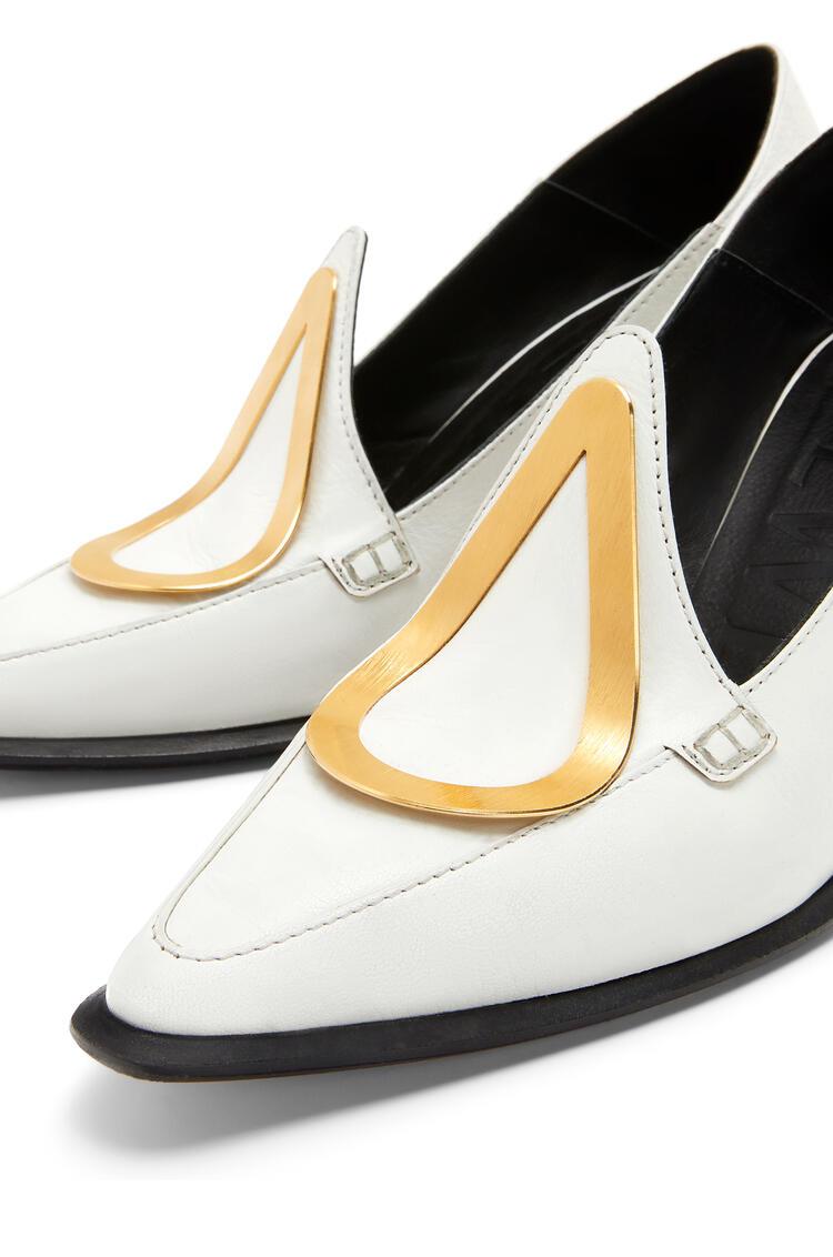 LOEWE Heel loafer in calfskin White pdp_rd